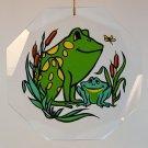 vintage frog Christmas ornament acrylic  NFR Inc 1982