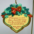 Helen Steiner Rice ornament Christmas 1998 Gibson Promise of Life box