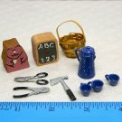 Lot of 10 dollhouse accessories vintage miniature