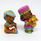 Hallmark 1996 Merry Miniatures Penda Kids 2 piece set figurines