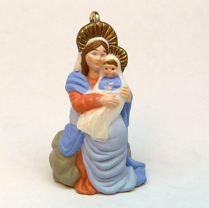 Vtg Hallmark Miniature Madonna and Child 1990 Christmas ornament