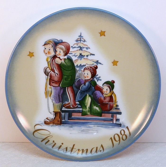 Vtg Hummel Schmid 1983 Christmas Plate A Time to Remember box COA