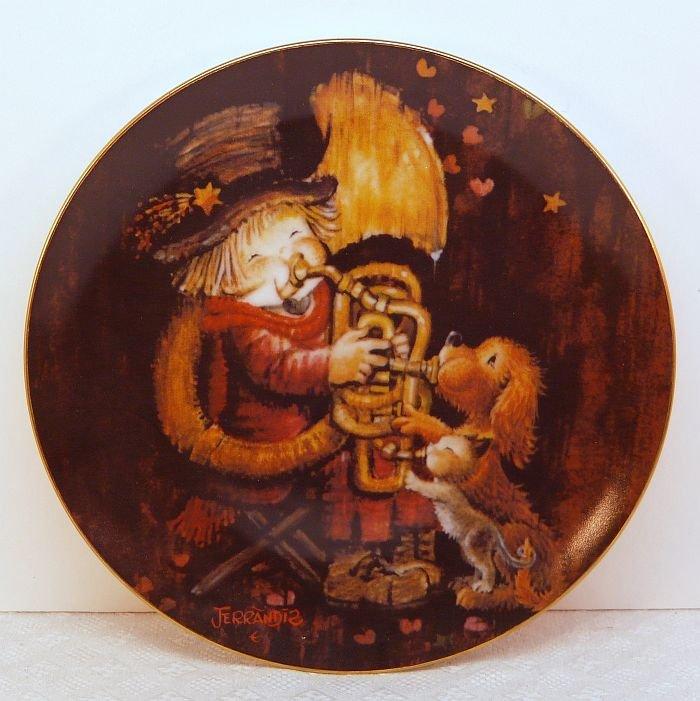 Vtg Ferrandiz Schmid plate The Entertainer 1981 porcelain limited edition 2nd in series box COA