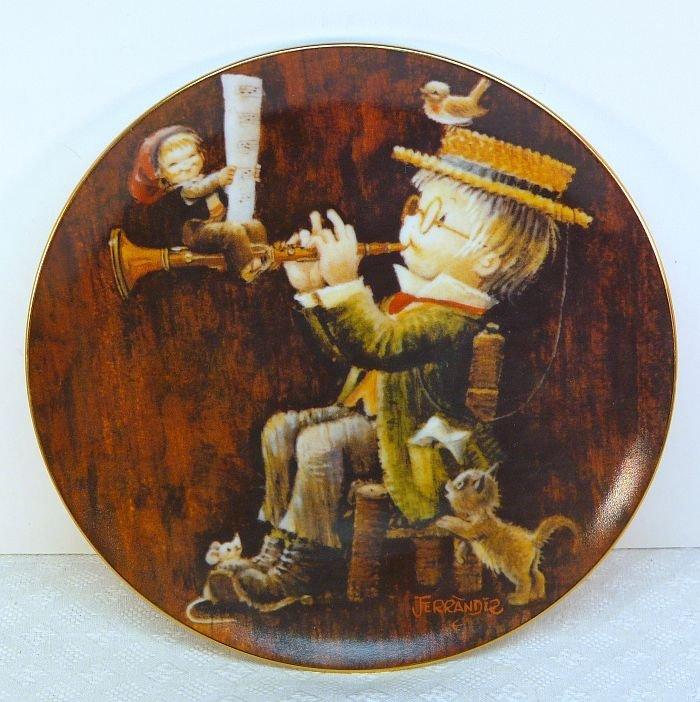 Vtg Ferrandiz Schmid plate Magical Medley 1981 porcelain 3rd in series
