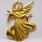 Vtg angel pendant gold tone