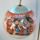vintage Hallmark Christmas ornament 1976 Commemorative Charmers Mary Hamilton sleeved satin ball