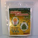 The Beadery Christmas ornament bead kit candle and Yule tree makes 6 small ornaments