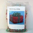 Vtg Christmas beaded wrapped package kit makes 1