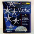 The Beadery Christmas Crystal Twist star ornament bead kit makes 6