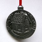 Taste of Home pewter Christmas ornament 2000 gingerbread house