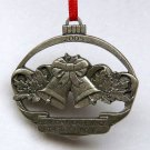 Taste of Home pewter Christmas ornament 2005 bells oval