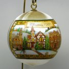 Vtg Hallmark Christmas ornament Love in the Home 1981 satin ball
