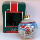 vintage Hallmark Christmas ornament St Nicholas the Gift bringers 1st 1989 sleeved glass ball Santa