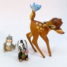3 Hallmark Bambi Frolicking Friends Thumper Flower Spring ornament 2000