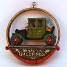 Vintage Hallmark 1977 Nostalgia Dated Christmas ornament antique car Sickman