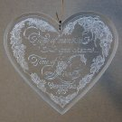 vtg Hallmark 1979 Christmas ornament Love heart Holiday Highlights clear acrylic QX3047