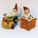 2 vintage gnome Christmas ornaments Craven Pottery