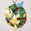 Hallmark ornament What&#39;s Your Name Spring kitten bird 1998 QEO8443