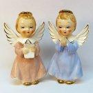 2 vintage angel figurines Japan ceramic praying reading