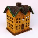 Salem Collection paper mache Christmas Fall House 12359 cardboard