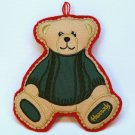 Harrods Christmas ornament bear felt England