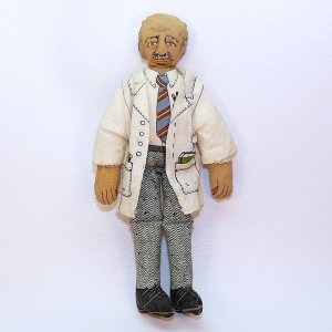 vtg Hallmark George Washington Carver doll collectible cloth 1979 DT113-7 agricultural pioneer