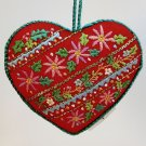 vtg Hallmark ornament Embroidered heart 1983 QX4217 Christmas no box