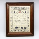 vtg Folk Art Scherenschnitte Designs with Scissors sampler Each day is a new beginning signed 1988