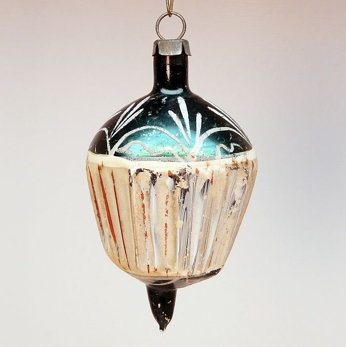 antique German Christmas ornament blown glass