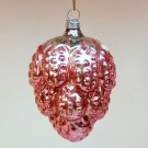 vintage blown glass berry bumpy Christmas ornament pink