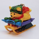 Hallmark Crayola Christmas ornament Bright Sledding Colors 10 in series 1998 bear sled box QX6166