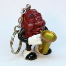 vintage California Raisins key ring saxophone 1987 Calrab