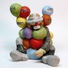 Vintage Emmett Kelly 75th Happy Birthday figurine bisque porcelain balloons
