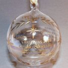 ornament Crystal Cathedral Ministries clear ball with gold tone accents Christmas 2008