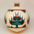 vtg Hallmark ornament Grandmother 1986 QX2743 Christmas sleeved satin ball