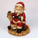 vtg Santa figurine bisque porcelain painted Taiwan toymaker