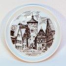 vintage Furstenberg porcelain coaster West Germany Rothenburg Hotel Siebersturm