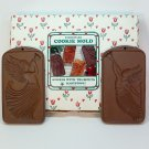 2 Hartstone Angels with Trumpets cookie molds stoneware box
