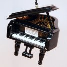 Grand piano Christmas ornament black lacquer