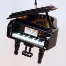 Grand piano Christmas ornament black lacquer