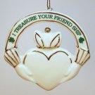 vintage claddagh Irish ornament friendship porcelain