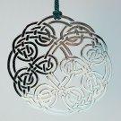 Celtic knot ornament circle Christmas silver tone metal Irish