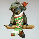 vtg Hallmark Raccoon Surprises ornament 1982 QX4793 Christmas