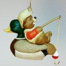 Hallmark Bobbin Along ornament 1995 QX5879 Christmas beaver fishing mallard duck
