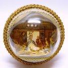 Vtg Nativity scene in plastic bubble vignette figurine Christmas