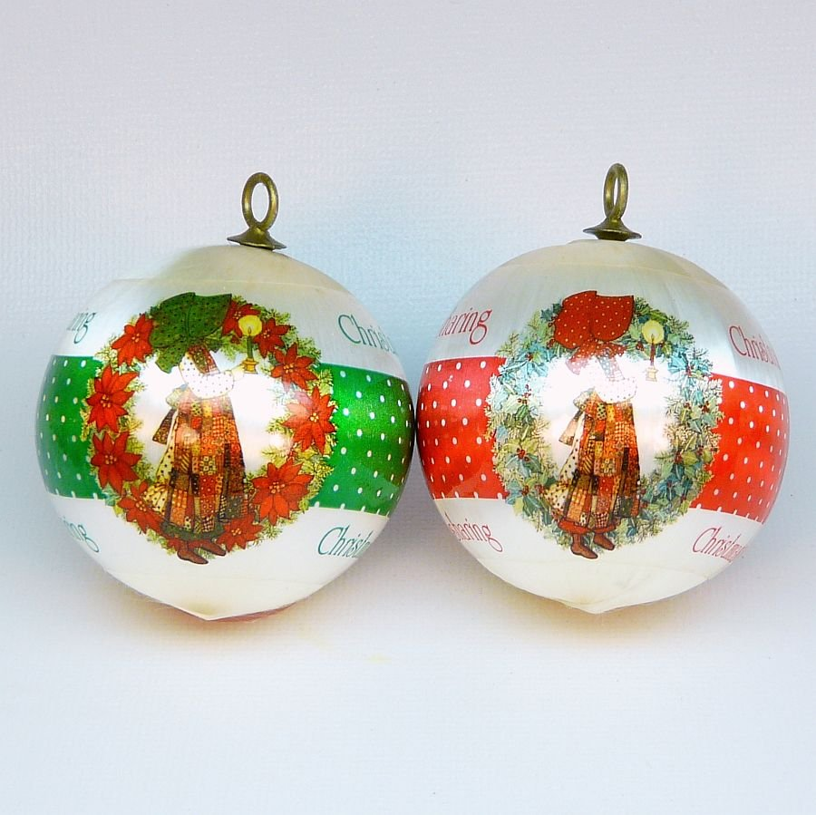 2 vintage holly hobbie ornaments christmas designers for Collecting vintage christmas ornaments
