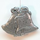 Carson pewter Christmas bells ornament 1993