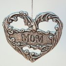 Carson pewter ornament Mom heart Christmas