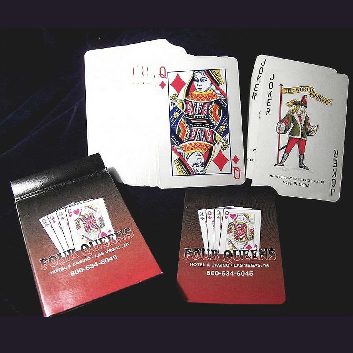 1 Deck Playing Cards Four Queens Hotel & Casino