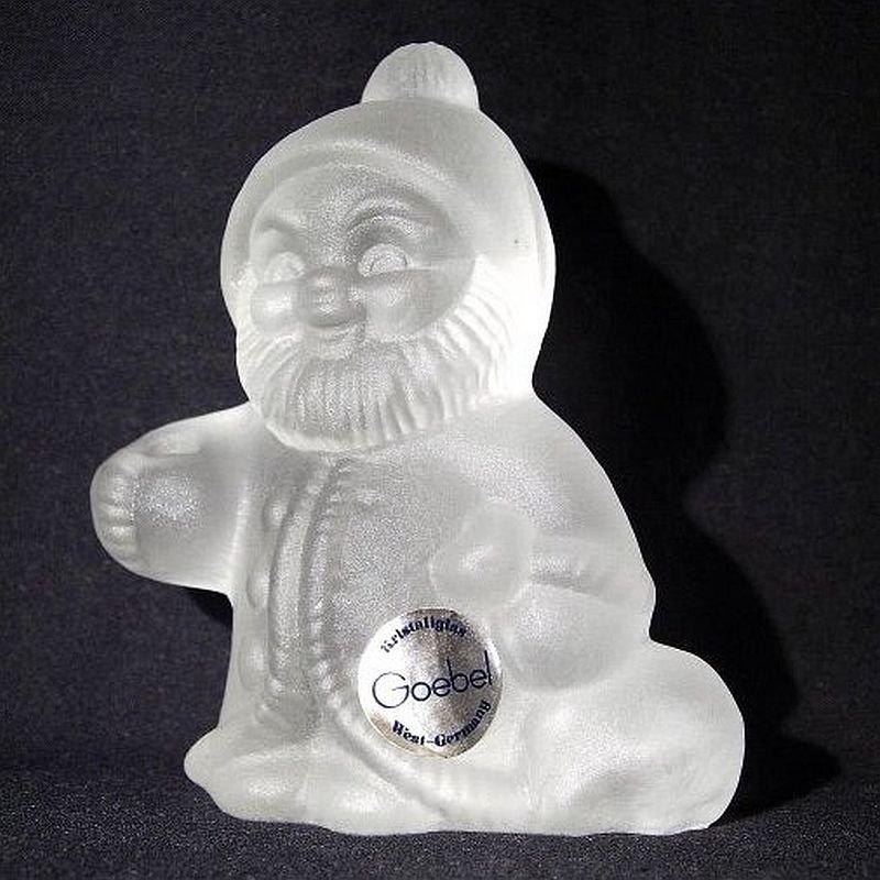 Vintage Goebel Santa Christmas Crystal Krystallglas candle holder